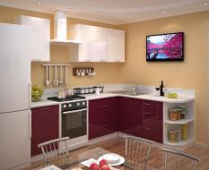 Встроенная кухня МДФ эмаль