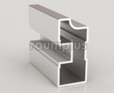 Профиль вертикальный асимметричный серии 1500 серебро