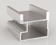 Профиль вертикальный асимметричный серии 300 серебро