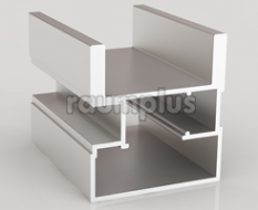 Профиль вертикальный асимметричный серии 3000 серебро