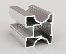 Профиль вертикальный серии 653 серебро