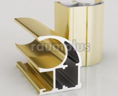 Профиль вертикальный серии 751 золото блестящее