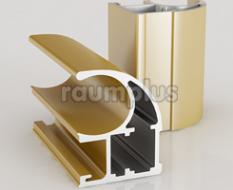 Профиль вертикальный серии 751 золото матовое