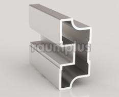 Профиль вертикальный симметричный серии 1500 серебро