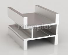 Профиль вертикальный симметричный серии 300 серебро
