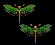 золотые стрекозы2