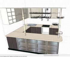 Кухня П-обр