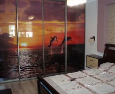 Встроенный шкаф с фотопечатью