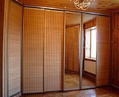 Раздвижные дверис бамбуком