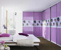 Фиолетовая перегородка с фотопечатью