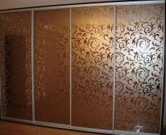 Пескоструйный узор на зеркале