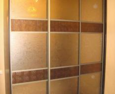 Золотисто-ораньжевая перегородка с кожей