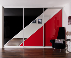 Геометрический дизайн из цветного стекла