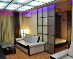 Перегородка гостиная-спальня