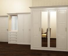 Белый шкаф МДФ с фрезеровками
