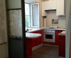 Раздвижная перегородка на кухню матовое и декоративное стекло (1)