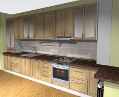 Кухня с каменной столешницей