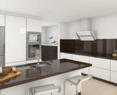 Белая кухня минимализм