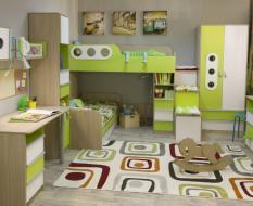 Зеленая мебель в детскую