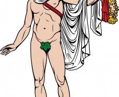 Apollo holding Mask