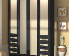 Высокий шкаф с выдвижными ящиками
