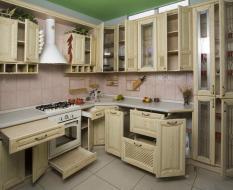 Кухонный гарнитур, массив дерева